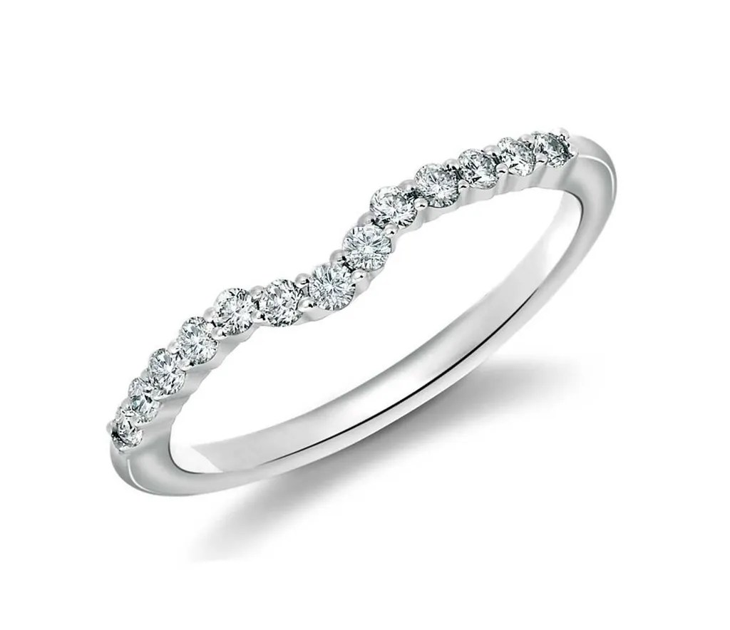 Wedding Ring For A Halo Engagement Ring Wedding Band For
