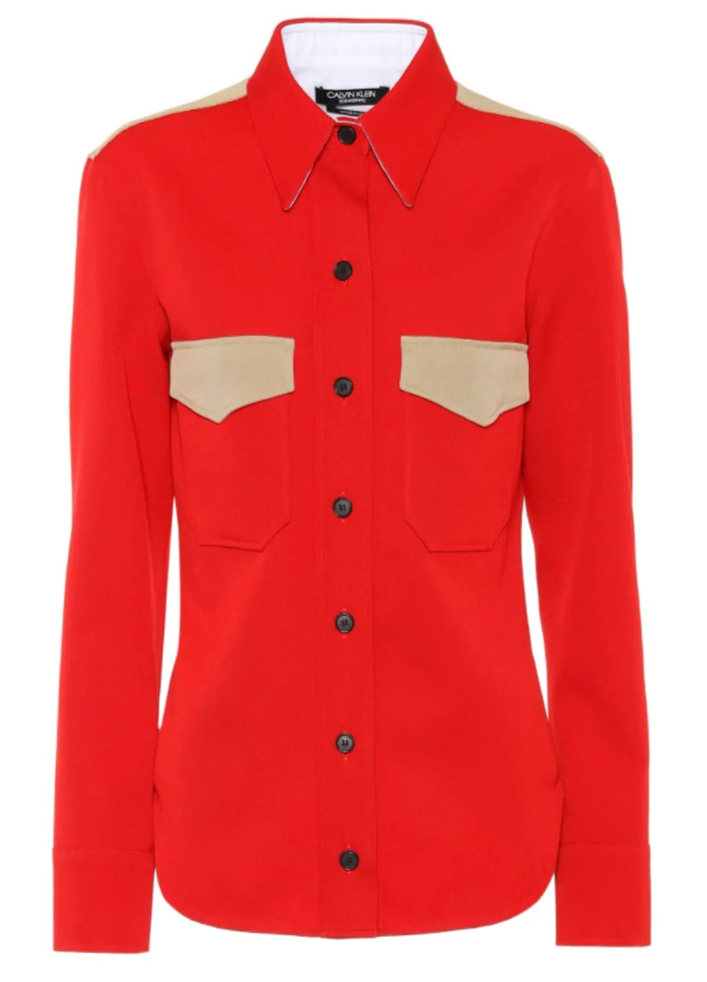 Spring 2018 Wardrobe Essentials: Color-Blocked Buttoned-up Shirt
