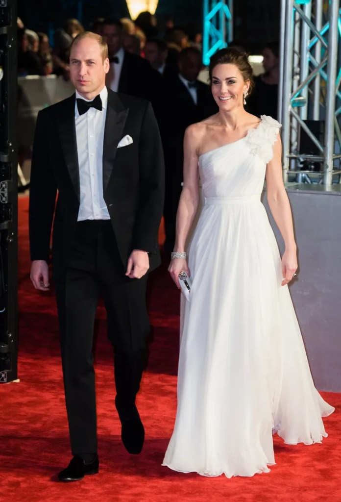 Prince William Duke of Cambridge and Catherine Duchess of Cambridge attends the EE British Academy Film Awards at Royal...