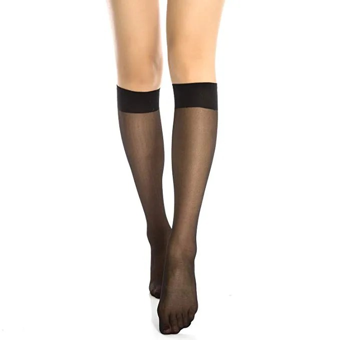 pstrongBuy Nowstrong Manzi 12 Pairs Lady's Sheer KneeHigh Stockings 13.99 a hrefhttpsamzn.to2UzlqVL relnofollowAmazonap
