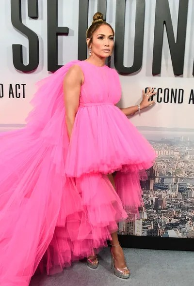 Jennifer Lopez attends the 'Second Act' World Premiere at Regal Union Square Theatre Stadium 14 on December 12 2018 in...