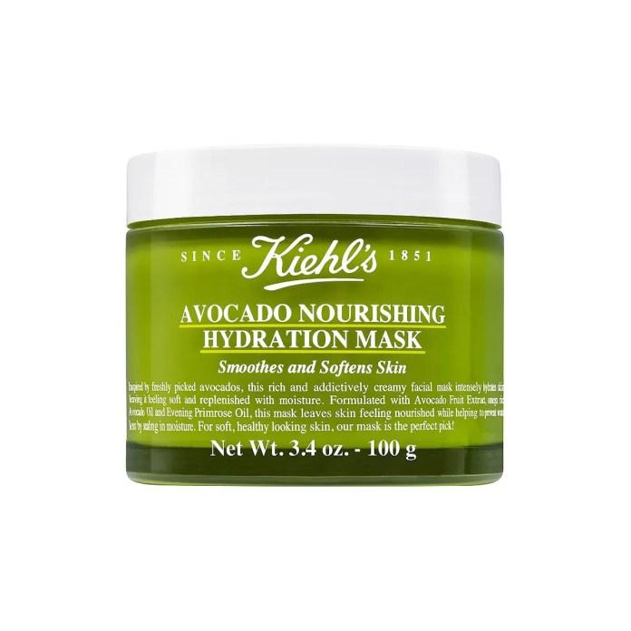 kiehl's Avocado Nourishing Hydration Mask _ green avocado face mask