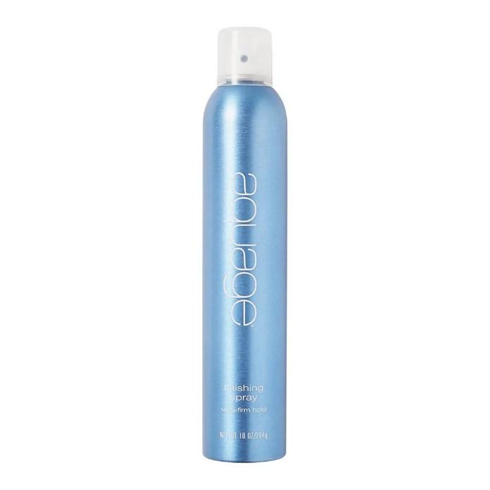 aquage finishing spray blue hair spray