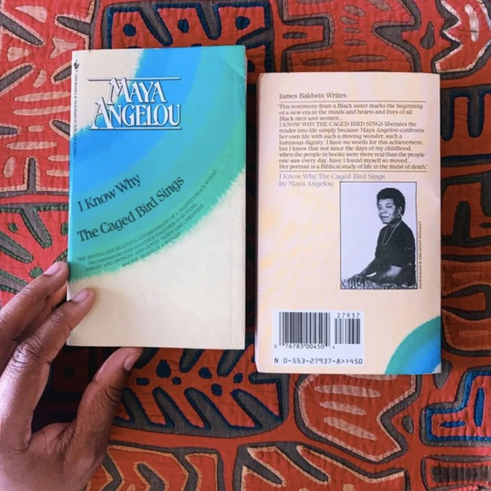 front and back of Maya Angelou book