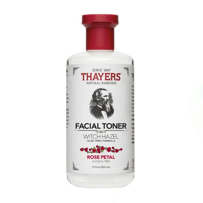 bottle of facial toner