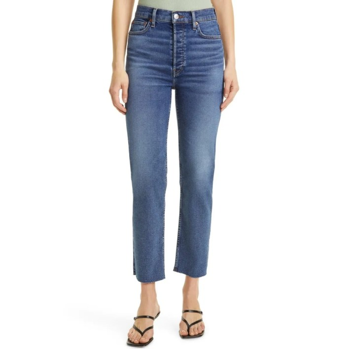 Re/Done '70s High Waist Ankle Stovepipe Jeans