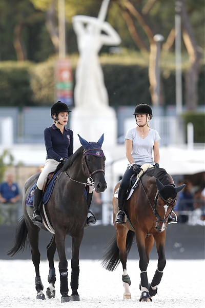 Charlotte Casiraghi Edwina Tops Alexander Longines Global Champions Tour Roma