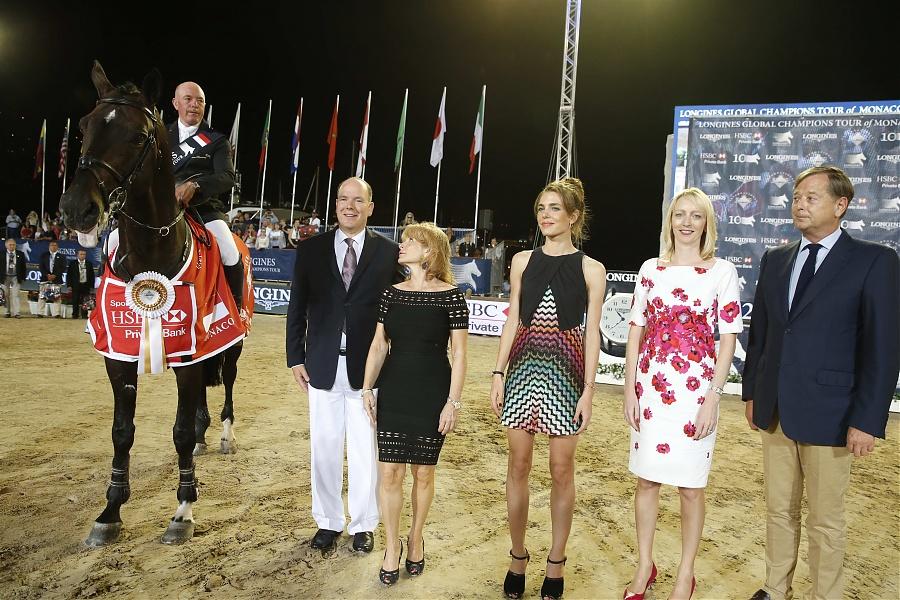 Charlez Villoz Jhon Whitaker Charlotte Casiraghi Prince Albert Longines Global Champions Tour Monaco Grand Prix