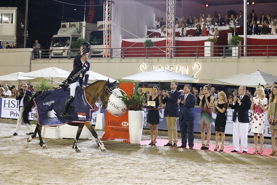 Scott Brash Charlotte Casiraghi Prince Albert Longines Global Champions Tour Monaco Grand Prix