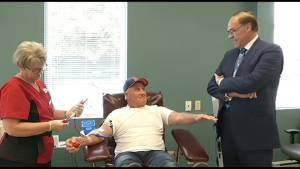 Annual Mayor's Blood Drive currently looking for donors (00:56)
