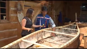 CHEX Daily gets a lesson in building a traditional Gitigan Ziibi-style birch bark canoe
