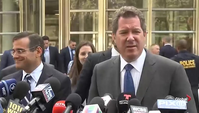 Click to play video 'Defence lawyers react to 'show trial' after El Chapo sentenced to life in prison'