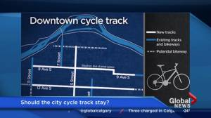 Downtown cycle track report at city hall