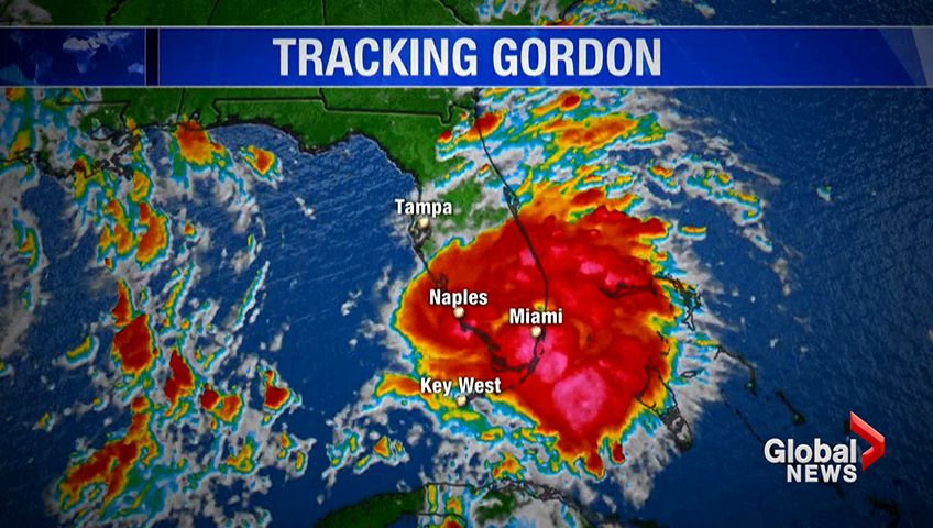 Emergency declared as Tropical Storm Gordon heads for Gulf Coast