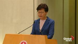 Carrie Lam says extradition bill is 'dead' following Hong Kong protests