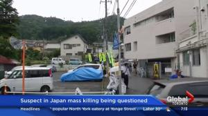 Suspect in Japan mass killing being questioned