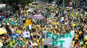 Supporters rally for far-right Brazil presidential candidate