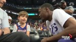 Phoenix Suns celebrate with little boy after nobody comes to his birthday party
