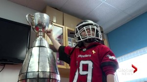 Grey Cup visit brightens the day for 9-year-old fan who battled cancer