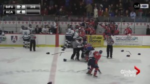 Hockey teams involved in brawl had 'agreement' about on-ice comments two seasons ago: league