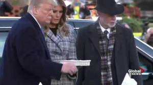 Donald Trump, Melania visit memorial for Pittsburgh synagogue shooting victims