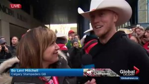 2018 Grey Cup MVP Bo Levi Mitchell on bringing the cup back