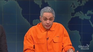 Pete Davidson addresses break-up with Ariana Grande on SNL Weekend Update