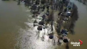 Canadian Forces footage shows extent of flooding in parts of Montreal