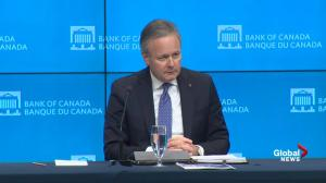 Poloz: Interest rates expected to move higher 'over time'
