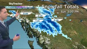 Snow fall forecast for northern B.C.