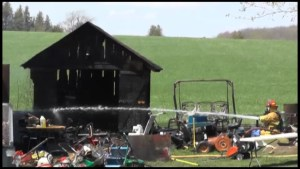 Shed, storage barn fire on Mount Pleasant Road in Cavan Monaghan Township