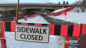 Pathway under Groat Bridge closed for construction