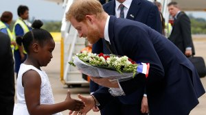 Britain's Prince Harry arrives in Zambia for two-day tour