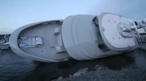$10-million Yacht capsizes on camera