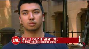 Witness describes scene of hostage situation in cafe
