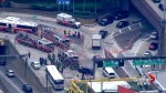 Two buses collided in New York's Lincoln Tunnel Friday morning, multiple people hurt