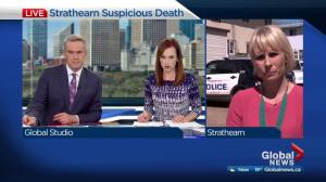 Suspicious domestic violence death of woman in Edmonton's Strathearn area
