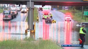 Sinkhole shuts down part of Yellowhead Trail after summer storm