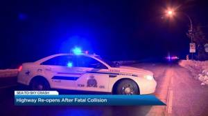 Highway reopens after fatal collision