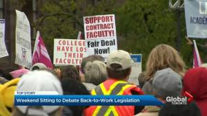 Legislature sit through weekend to hash out bill to end Ontario college faculty strike