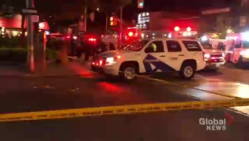 Multiple people shot outside Toronto restaurant
