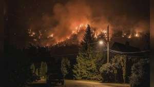 Snowy Mountain wildfire flares up, causes concern