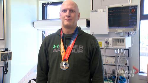 Man who collapsed at finishing line of Blue Nose half marathon speaks out