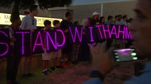 Father of Texas student arrested for clock speaks to supporters, wants answers from police