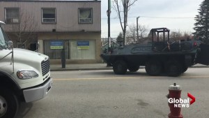 New West police deploy armoured vehicle near Royal Columbian hospital