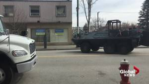 New West police deploy armoured vehicle near Royal Columbian hospital