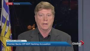 Christy Clark still under fire for hacking scandal