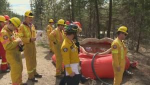 Interface wildfire training exercises near Penticton