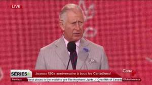 Prince Charles praises Canada during 150 birthday celebrations
