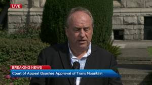B.C. Green Party leader on environmental impact of Trans Mountain pipeline (01:24)